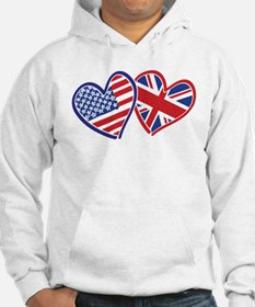 Patriotic Peace Sign and USA Flag Hoodie
