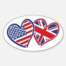 Patriotic Peace Sign and USA Flag Decal