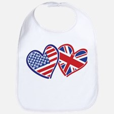 Patriotic Peace Sign and USA Flag Bib