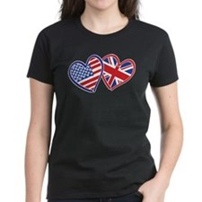 Patriotic Peace Sign and USA Flag Tee