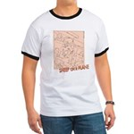 Sheep On a Plane Ringer T