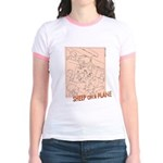 Sheep On a Plane Jr. Ringer T-Shirt