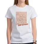 Sheep On a Plane Women's T-Shirt