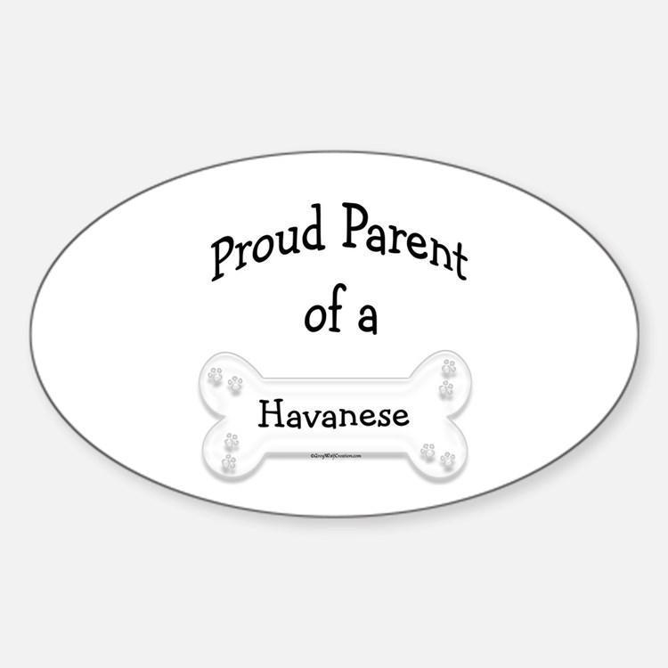 Proud Parent of a Havanese Oval Decal