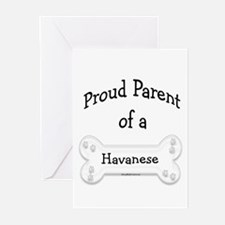 Proud Parent of a Havanese Greeting Cards (Package