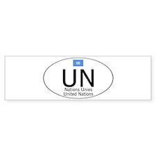 UN National Code Bumper Sticker
