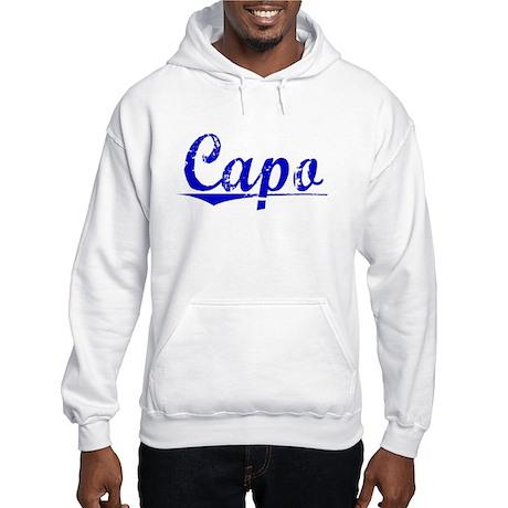 Capo, Blue, Aged Hooded Sweatshirt
