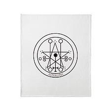 TILE Astaroth Seal - White BG.png Throw Blanket