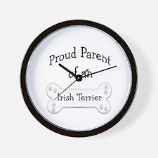 Proud Parent of an Irish Terrier Wall Clock