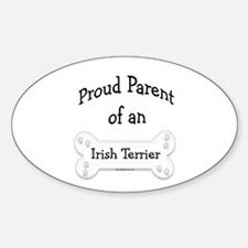 Proud Parent of an Irish Terrier Oval Decal