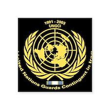 """UNGCI Veteran logo Square Sticker 3"""" x 3"""""""