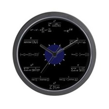 Math Wall Clock (black)