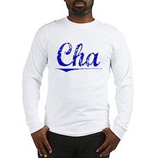 Cha, Blue, Aged Long Sleeve T-Shirt