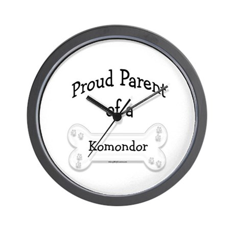 Proud Parent of a Komondor Wall Clock