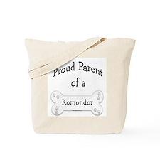 Proud Parent of a Komondor Tote Bag