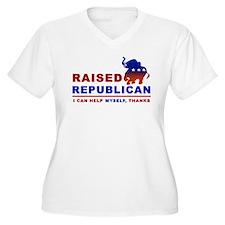 Raised Republican Plus Size T-Shirt