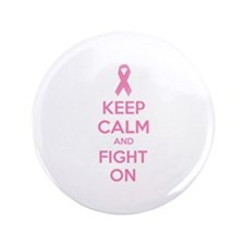 "Keep calm and fight on 3.5"" Button (100 pack)"