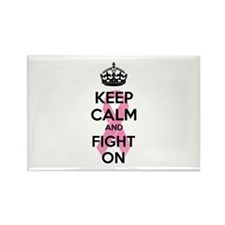 Keep calm and fight on Rectangle Magnet (10 pack)