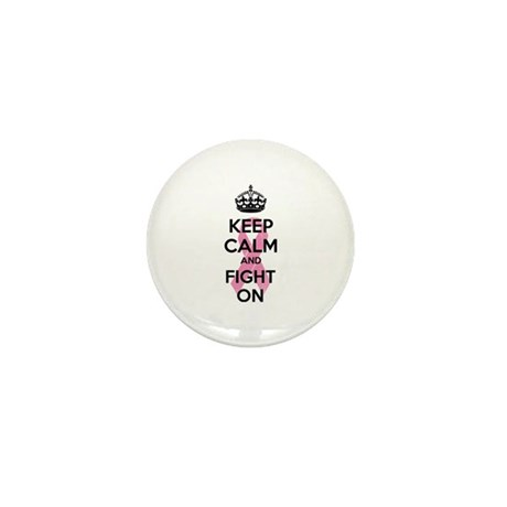 Keep calm and fight on Mini Button (100 pack)