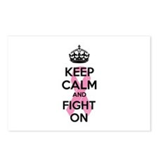 Keep calm and fight on Postcards (Package of 8)