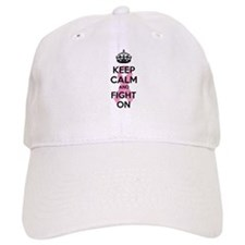 Keep calm and fight on Baseball Cap