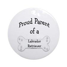 Lab Proud Parent Ornament (Round)