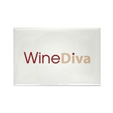 Wine Diva Rectangle Magnet (10 pack)