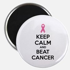 """Keep calm and beat cancer 2.25"""" Magnet (100 pack)"""