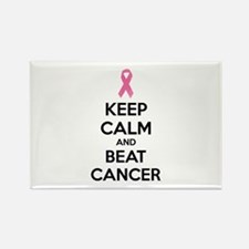Keep calm and beat cancer Rectangle Magnet (10 pac