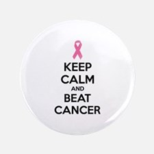 """Keep calm and beat cancer 3.5"""" Button (100 pack)"""