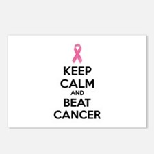 Keep calm and beat cancer Postcards (Package of 8)