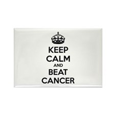 Keep calm and beat cancer Rectangle Magnet