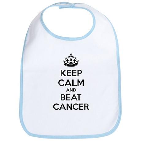 Keep calm and beat cancer Bib