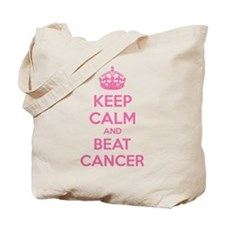 Keep calm and beat cancer Tote Bag