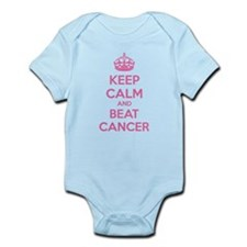 Keep calm and beat cancer Infant Bodysuit