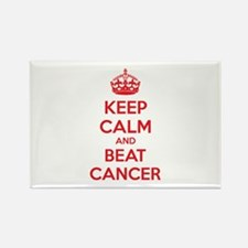 Keep calm and beat cancer Rectangle Magnet (100 pa