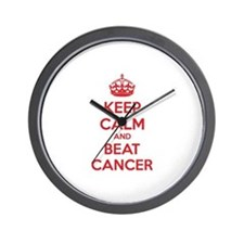 Keep calm and beat cancer Wall Clock