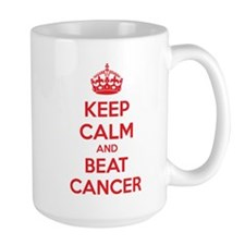 Keep calm and beat cancer Mug