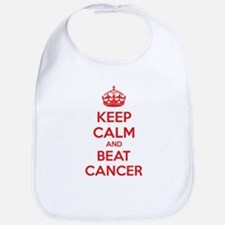 Keep calm and beat cancer Bib