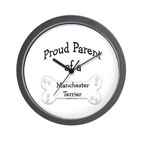 Proud Parent Manchester Terrier Wall Clock