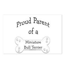 Proud Parent Miniature Bull Terrier Postcards (Pac