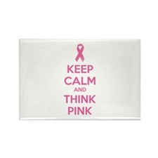 Keep calm and think pink Rectangle Magnet