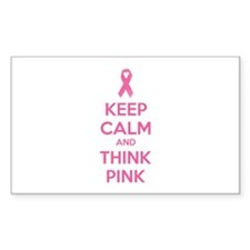 Keep calm and think pink Decal