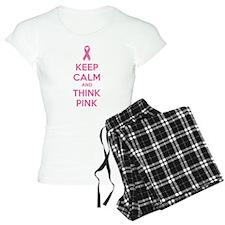 Keep calm and think pink Pajamas