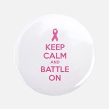 """Keep calm and battle on 3.5"""" Button (100 pack)"""