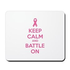 Keep calm and battle on Mousepad