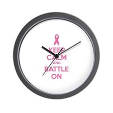 Keep calm and battle on Wall Clock