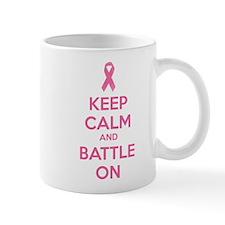 Keep calm and battle on Mug