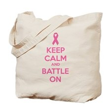 Keep calm and battle on Tote Bag