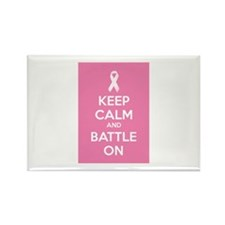 Keep calm and battle on Rectangle Magnet